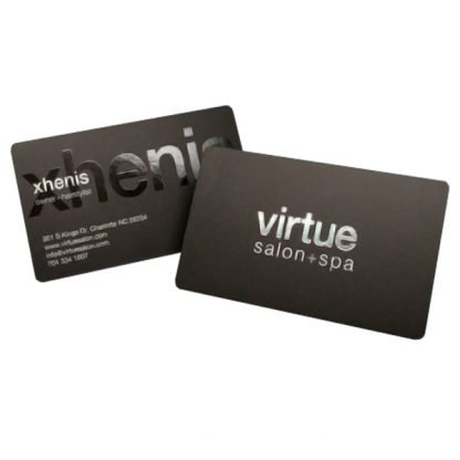 2D Spot UV business cards