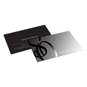 Cards with gloss varnish