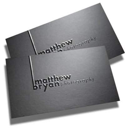 Raised printing - SCODIX business cards